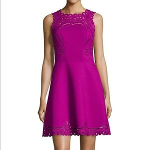 Ted Baker Verony Skater Embroidered Dress Size: 3